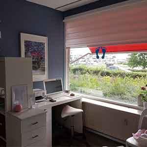 bureau en raam